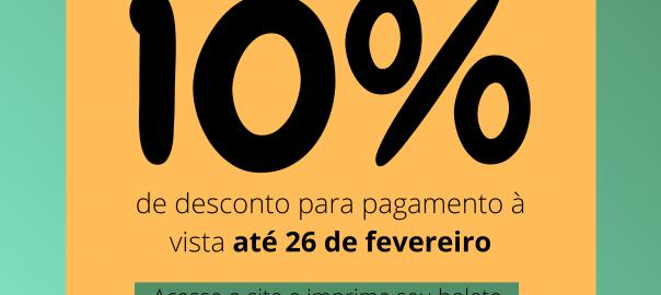 Anuidade com desconto 10%