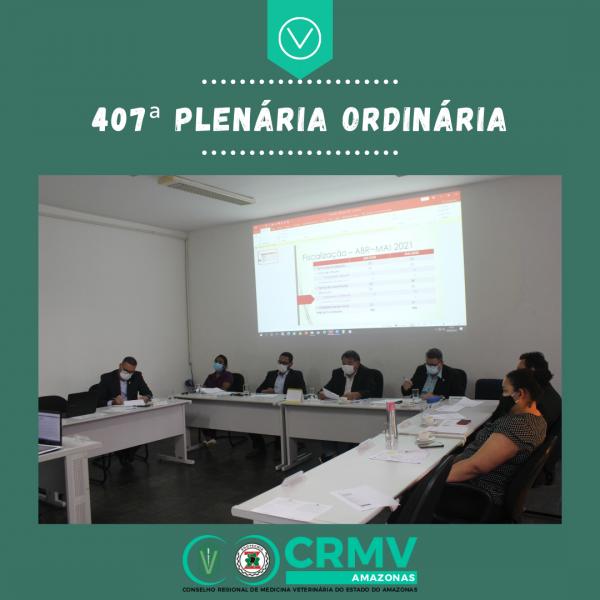 407ª Plenária Ordinária - 09.06.2021