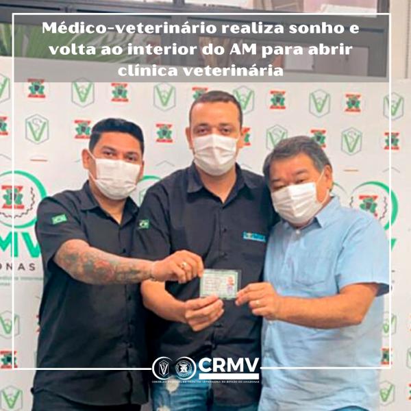 Médico-veterinário realiza sonho e volta ao interior do AM para abrir clínica veterinária