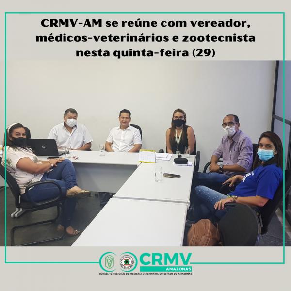 Presidente do CRMV-AM se reúne com vereador e médicos-veterinários nesta quinta-feira (29)